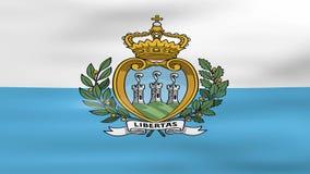 Acenar San Marino Flag, apronta-se para o laço sem emenda ilustração do vetor