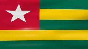 Acenar Togo Flag, apronta-se para o laço sem emenda ilustração royalty free