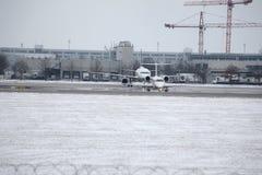 Acepilla la formación en el aeropuerto de Munich, opinión del primer Foto de archivo