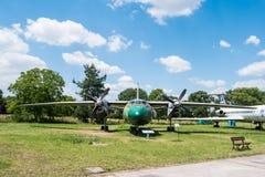 Acepille con el propulsor en museo de la aviación en Kraków Fotografía de archivo