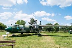 Acepille con el propulsor en museo de la aviación en Kraków Fotos de archivo