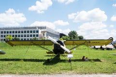 Acepille con el propulsor en museo de la aviación en Kraków Imagen de archivo