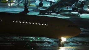 Acepille en la puerta terminal, opinión de la noche, Munich metrajes
