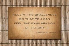 Acepte los desafíos - Patton Foto de archivo libre de regalías