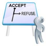 Acepte o rechace la muestra Fotos de archivo libres de regalías