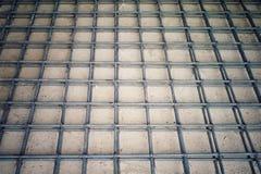 Acería para el refuerzo del piso concreto Foto de archivo