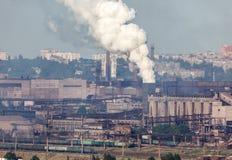 Acería, planta de la metalurgia Fábrica de la industria pesada fotografía de archivo