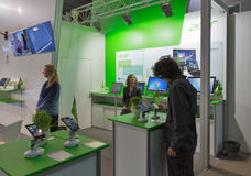 Acer company booth at CEE 2015, the largest electronics trade show in Ukraine Royalty Free Stock Images