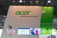 Acer company booth at CEE 2015, the largest electronics trade show in Ukraine Royalty Free Stock Photos