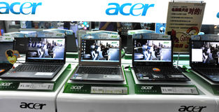Acer laptop. Shop at huaqiangbei electronics market,shenzhen,china Royalty Free Stock Image