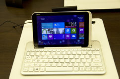 Acer pad tablet stock photography