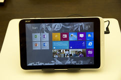 Acer pad tablet royalty free stock image