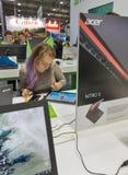 Acer-Stand in CEE 2017 in Kiew, Ukraine Lizenzfreie Stockbilder