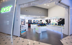 Acer store in Plaza Low Yat, Kuala Lumpur. KUALA LUMPUR - MARCH 13, 2017: An Acer store in Plaza Low Yat. Acer Inc. is a Taiwanese multinational hardware and Royalty Free Stock Photography