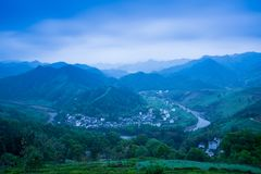 A small village in Mount Huangshan, China, is called Hongcun, just like the beauty of landscape painting. Acer village, also known as Hong Cun, Yixian County royalty free stock photo