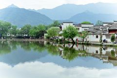 A small village in Mount Huangshan, China, is called Hongcun, just like the beauty of landscape painting. Acer village, also known as Hong Cun, Yixian County stock images