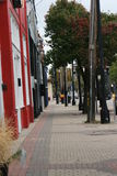 Acera céntrica de la calle Imagen de archivo libre de regalías