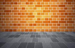 Acera de Brickwall Imagenes de archivo