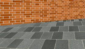Acera de Brickwall Fotografía de archivo libre de regalías