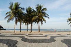 Acera de Copacabana Imagen de archivo libre de regalías