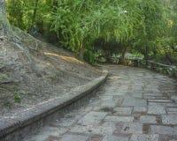 Acera de Parque Rodo en Montevideo Imagenes de archivo
