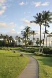 Acera por el mar, Maui, Hawaii fotografía de archivo libre de regalías