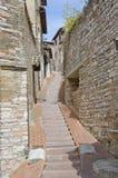 Aceras de Assisi, Italia fotografía de archivo libre de regalías