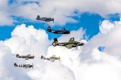 Acercamento da formação da herança durante Airshow Fotos de Stock
