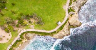 Acercamento do Oceano Pacífico e do La Jolla imagem de stock royalty free