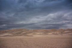 Acercamiento al parque nacional de las dunas de arena Fotos de archivo