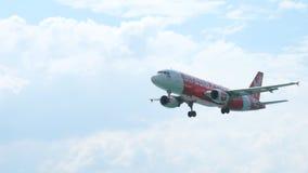 Acercamiento de Airbus A320 metrajes