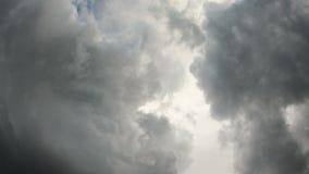 Acercamiento de la tempestad de truenos almacen de metraje de vídeo