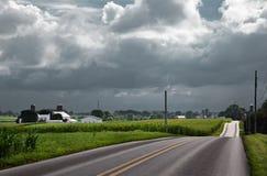 Acercamiento de las nubes de tormenta Imágenes de archivo libres de regalías