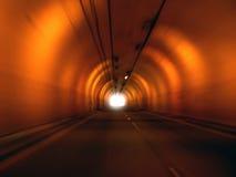 Acercamiento del extremo del túnel Fotografía de archivo
