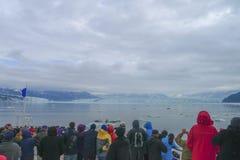 Acercamiento del glaciar de Hubbard en Alaska fotos de archivo libres de regalías