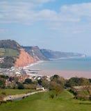 Trayectoria del sur Sidmouth Devon Inglaterra de la costa oeste Foto de archivo libre de regalías