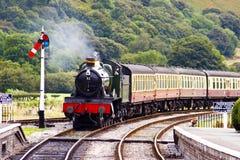 Acercamiento del tren Imagenes de archivo