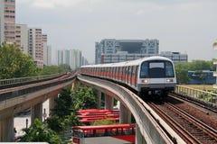 Acercamiento rápido del metro Fotografía de archivo