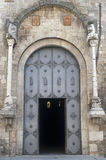 Acerenza (Basilicata, Italy): cathedral door Royalty Free Stock Photography