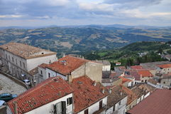 Acerenza, Basilicata, Italy. The old town white house traditional architecture. Stock Image
