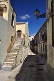 Acerenza, Basilikata, Italien Schmale Gasse in der alten Stadt Stockfotos