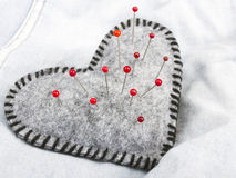Acerico en forma de corazón Fotografía de archivo