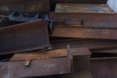 Acero aherrumbrado Imágenes de archivo libres de regalías