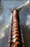 Acero de acero del material de industry Fotografía de archivo