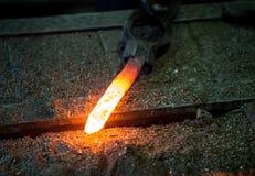 Acero de forja caliente Foto de archivo libre de regalías