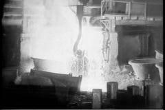 Acero de la fabricación en el molino almacen de metraje de vídeo
