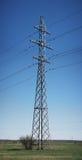 Acero de la fuente de la corriente eléctrica Imagen de archivo libre de regalías