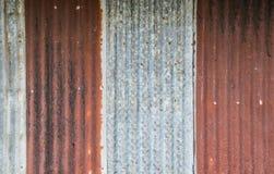 Acero galvanizado viejo Fotos de archivo