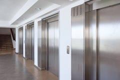 Acero inoxidable de la cabina del elevador Imagenes de archivo