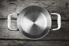 Acero inoxidable que cocina el crisol Imagen de archivo libre de regalías